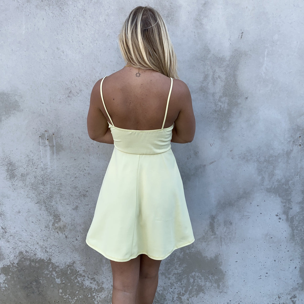 Sweet Escape Yellow Skater Dress - Dainty Hooligan