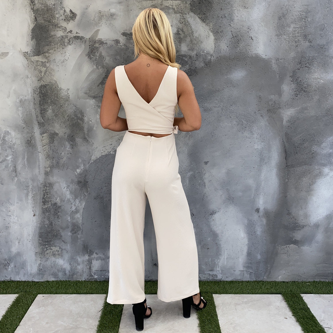 Up For A Good Time Cream Jumpsuit - Dainty Hooligan