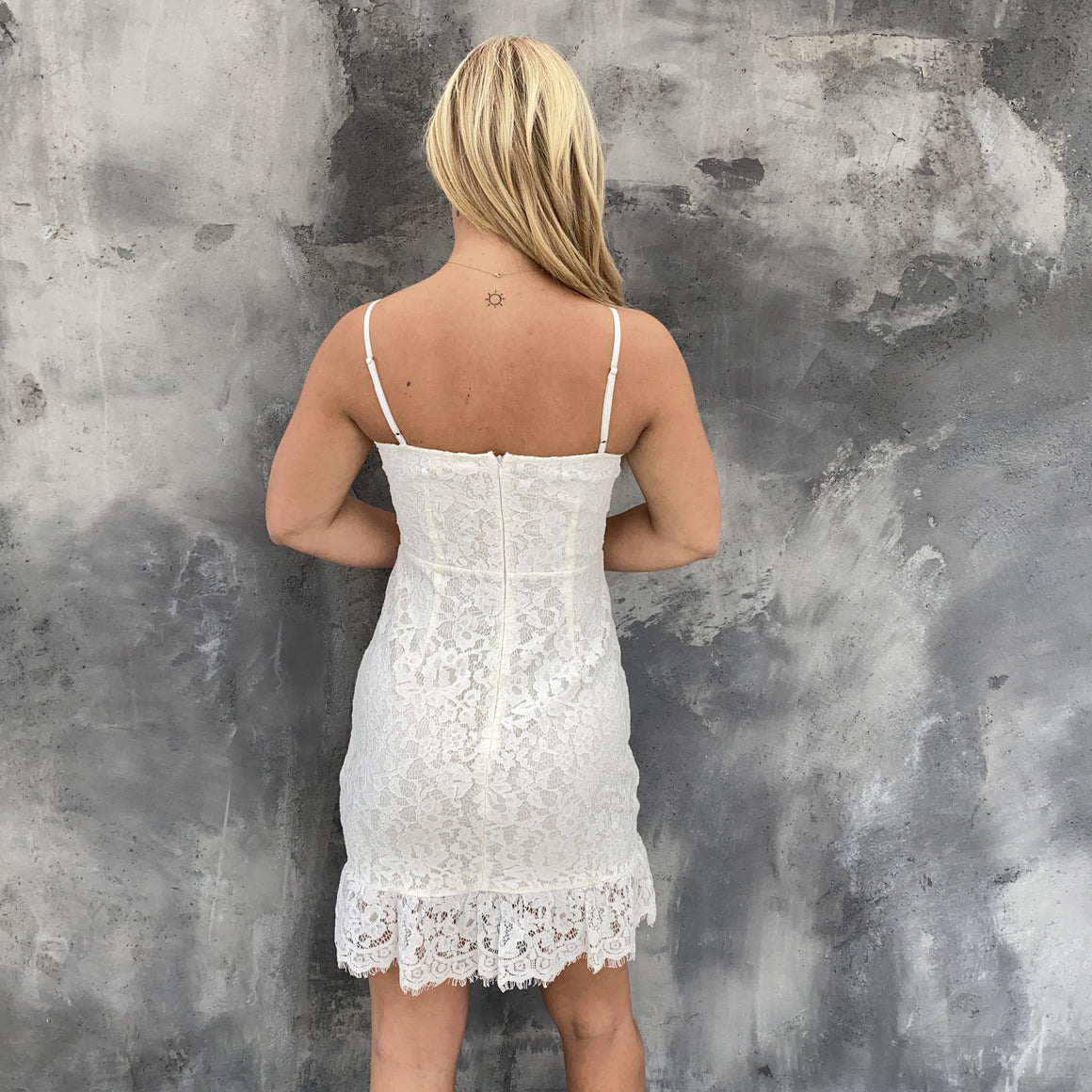 Infatuated Love Lace Shift Dress