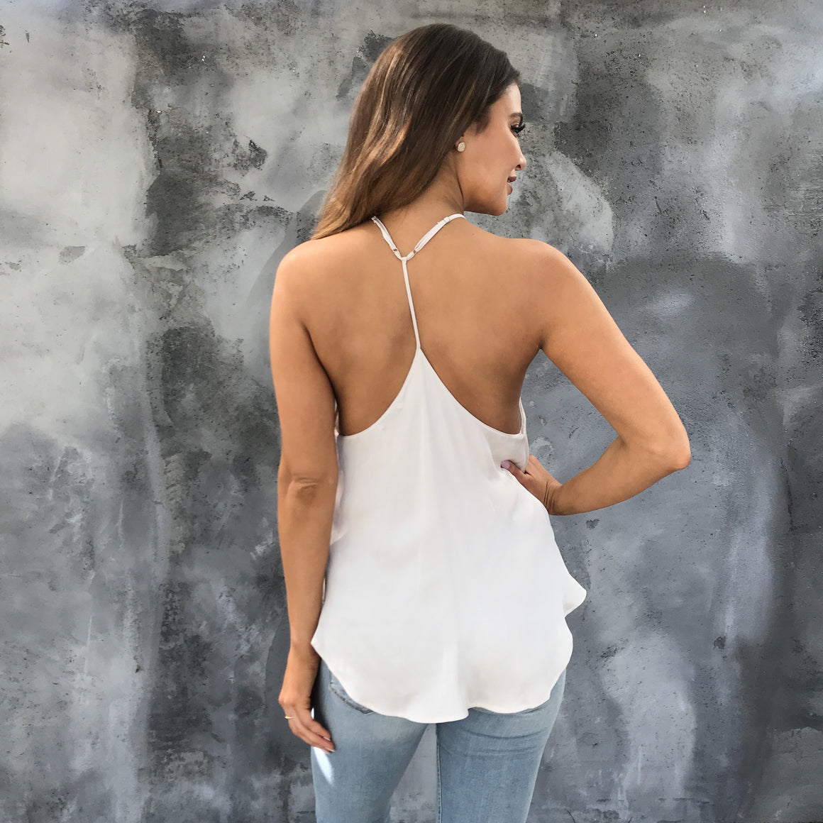 Silk and Champagne Tank Blouse - Dainty Hooligan