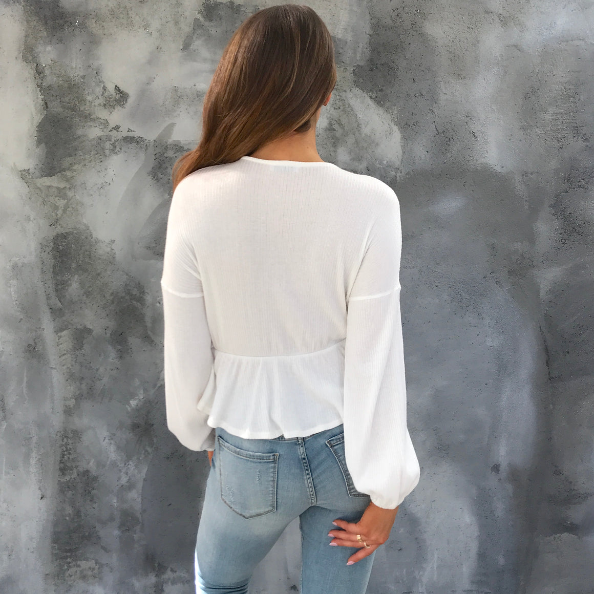 Swayed Ways Ribbed Blouse - Dainty Hooligan