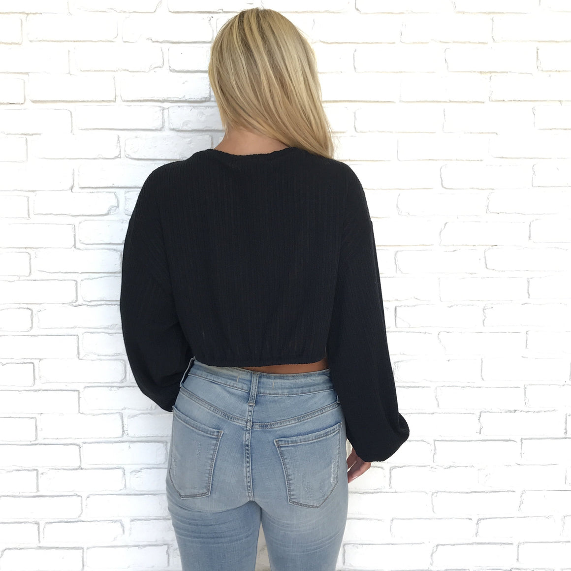 Late Night Out Black Sweater Top