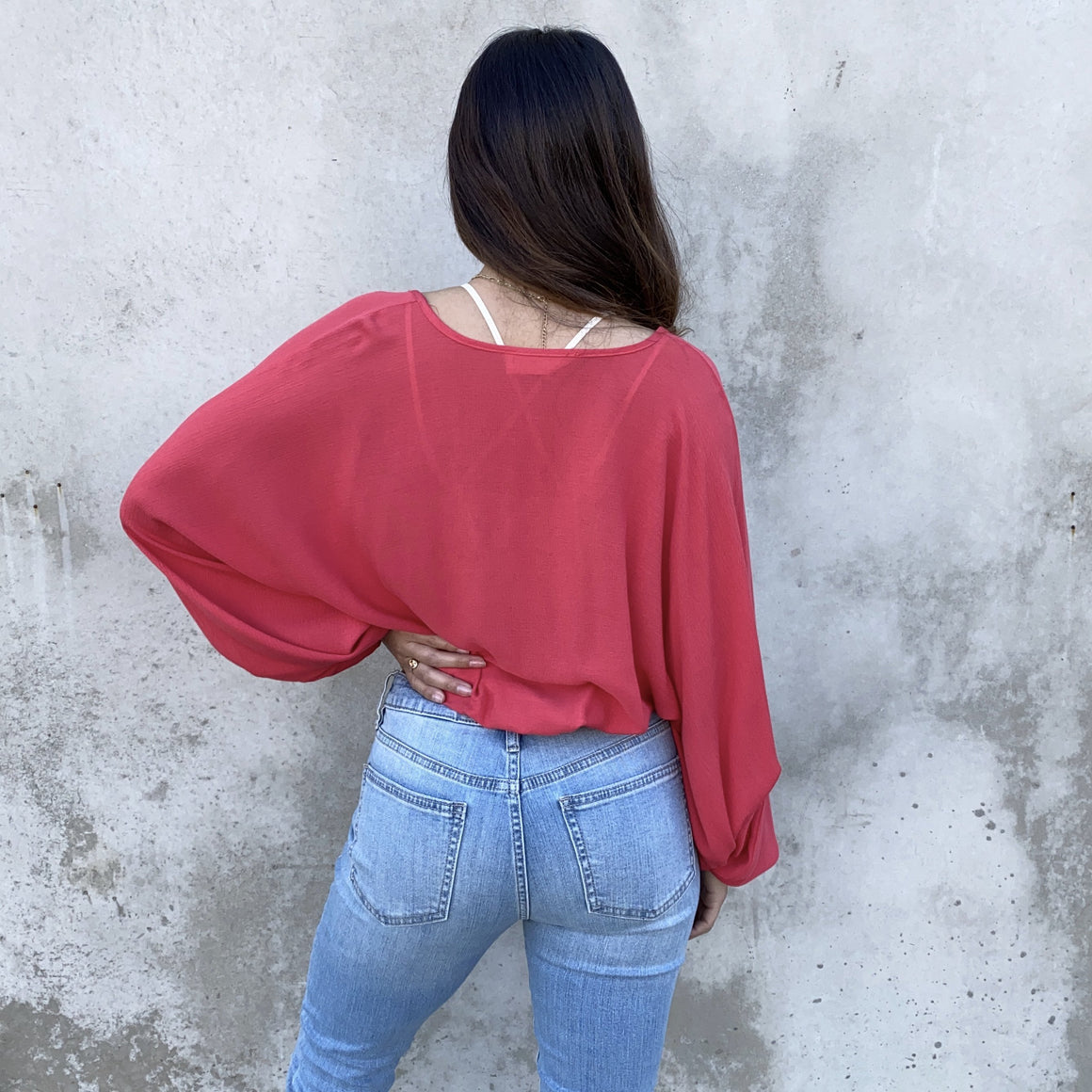 Part The Red Sea Wrap Blouse