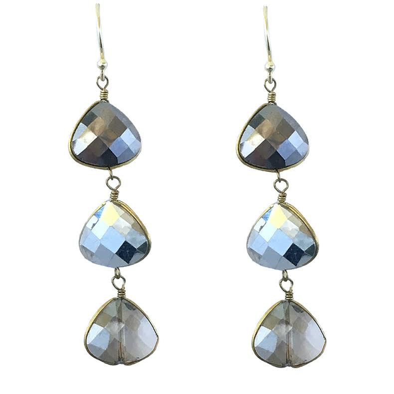 Three Drops Crystal Earrings