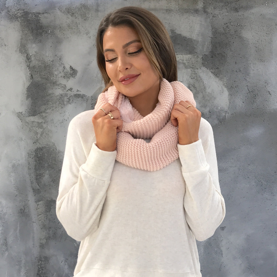 Softest Touch Infinity Scarf in Pink
