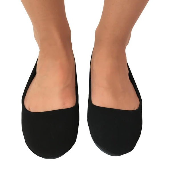 Off Switch Suede Flats in Black