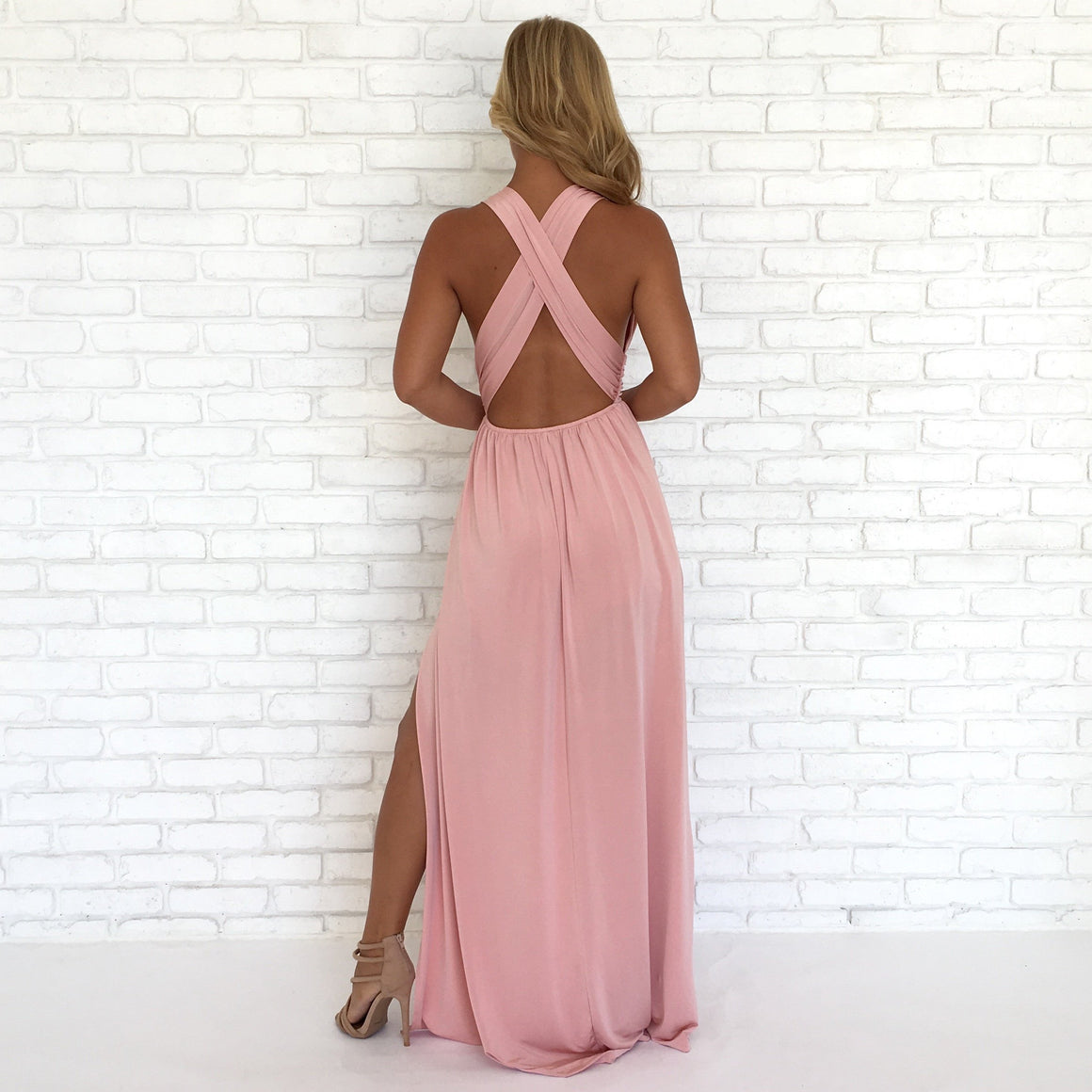 Always Your Girl Maxi Dress In Pink - Dainty Hooligan
