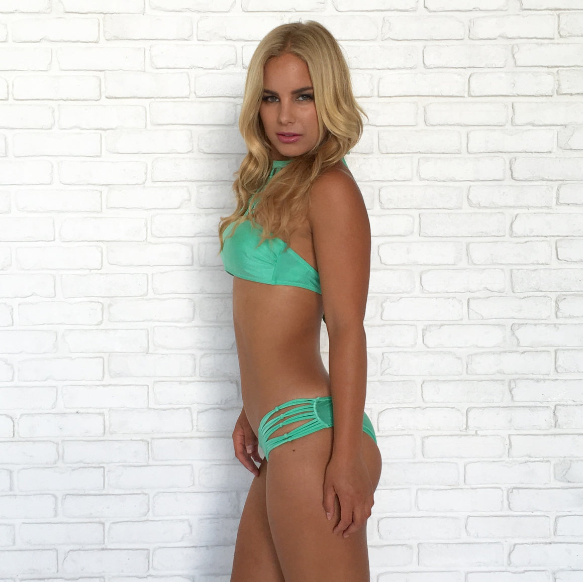 Netline Halter Bikini Set in Mint