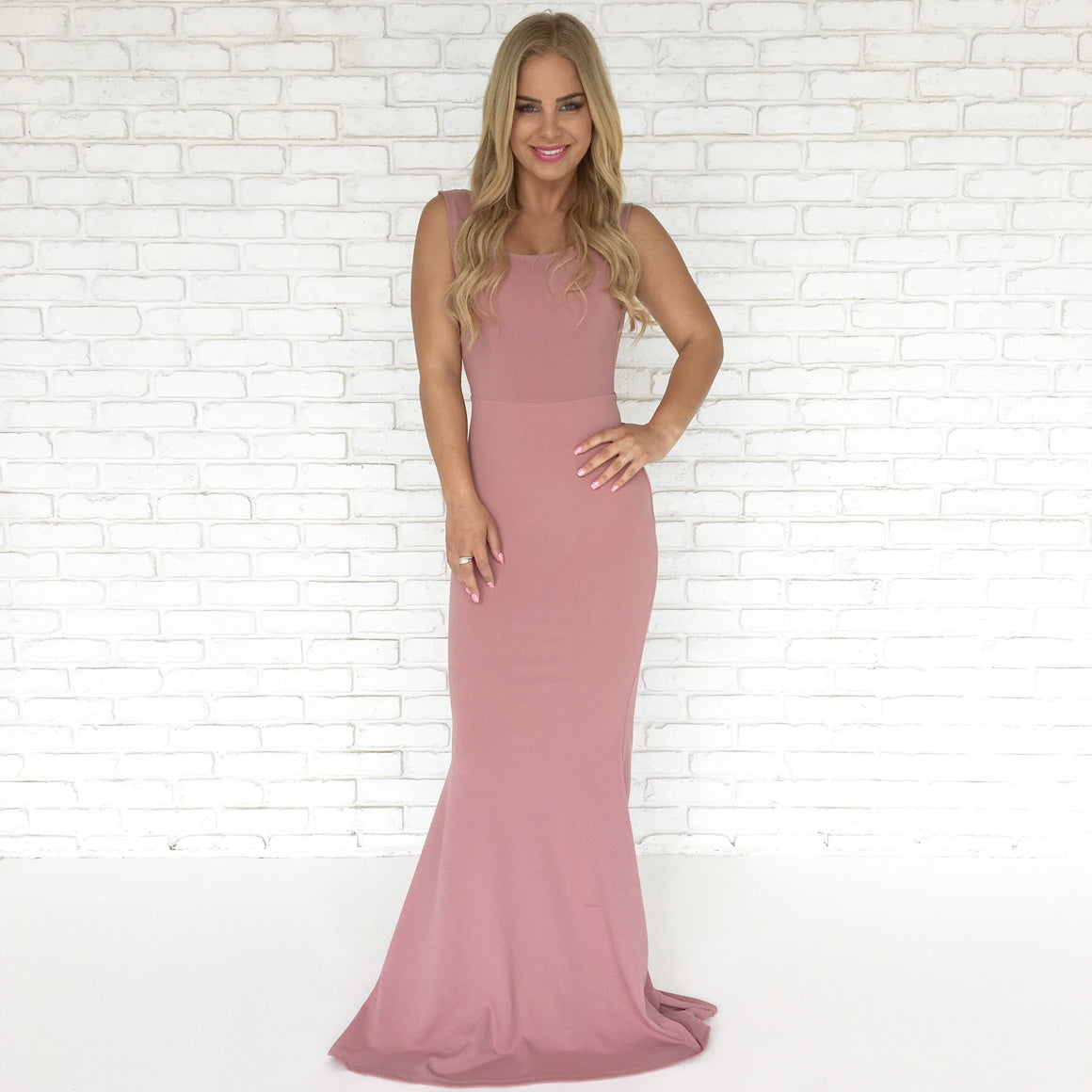 Perfect Duet Bow Back Maxi Dress In Pink - Dainty Hooligan