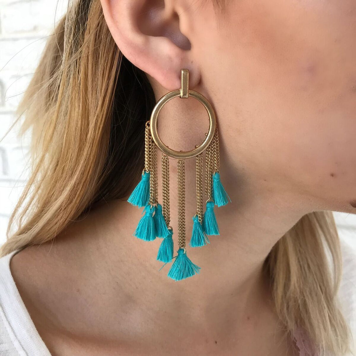 Gold Coast Earrings in Teal - Dainty Hooligan