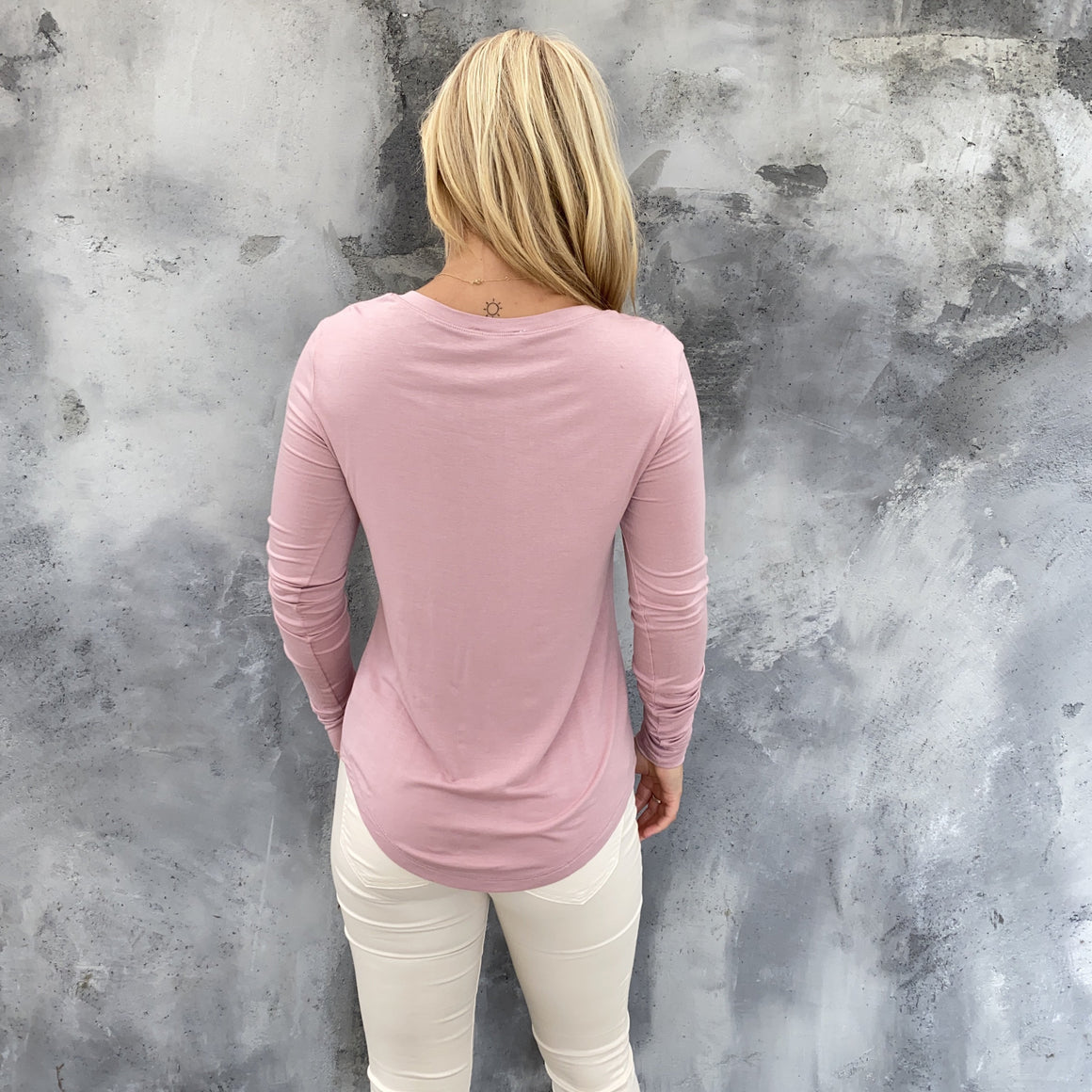 Layla Basic Pink Long Sleeve Top