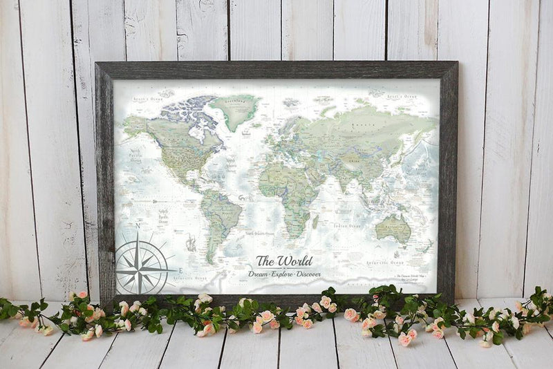 USA & World Push Pin Maps, Travel Map with Pins | GeoJango Maps Personalized Pin Your Journeys World Map on