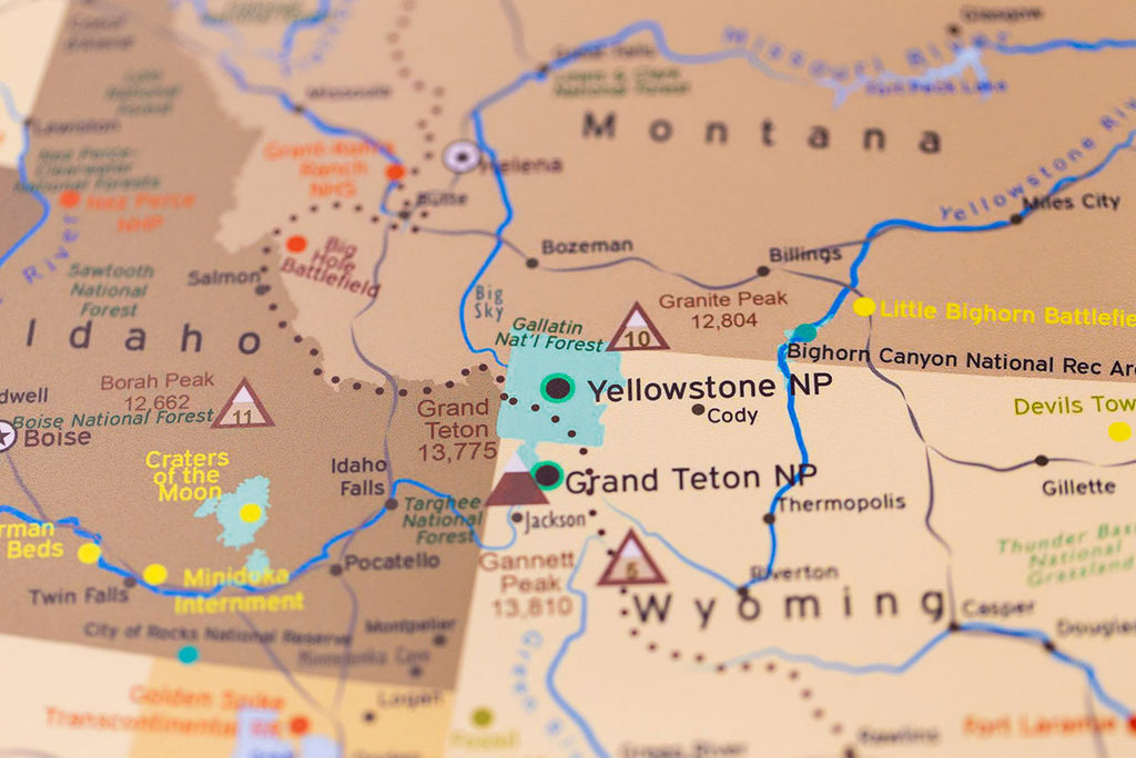 Map Of America Yellowstone National Park.Usa National Parks Biodiversity In Yellowstone Geojango Maps