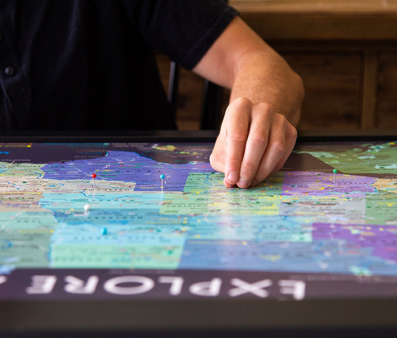 usa map with push pins