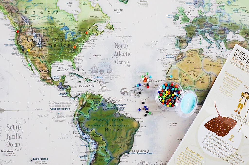 USA & World Push Pin Maps, Travel Map with Pins | GeoJango Maps
