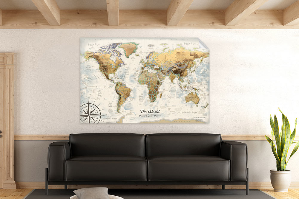 world map wallpaper wall decal