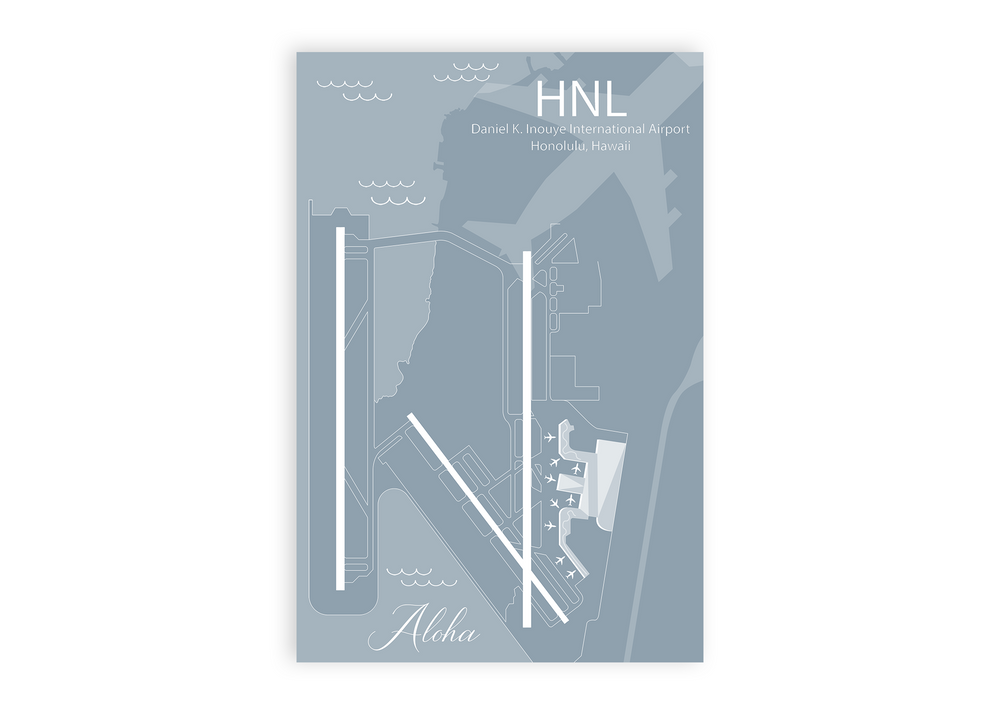 hnl airport map
