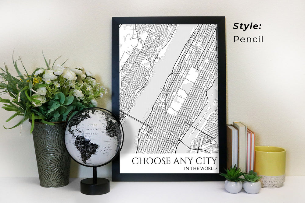 choose any city map