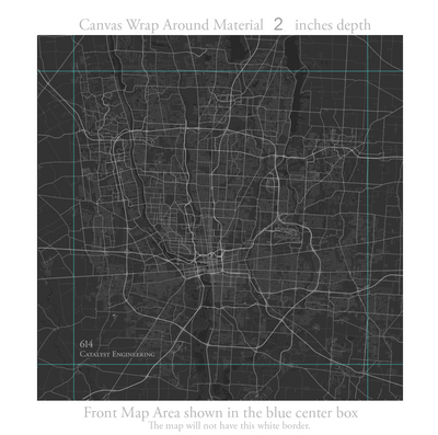 Special Listing:  City Maps Canvas Wrap Push Pin Map - Customized