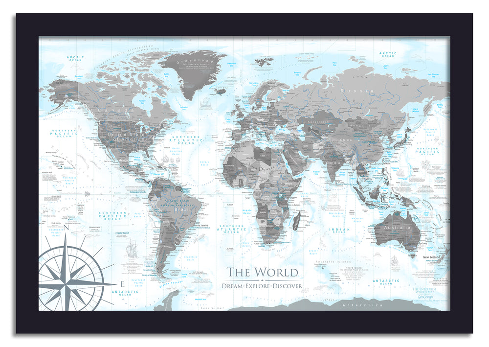 World Push Pin Map