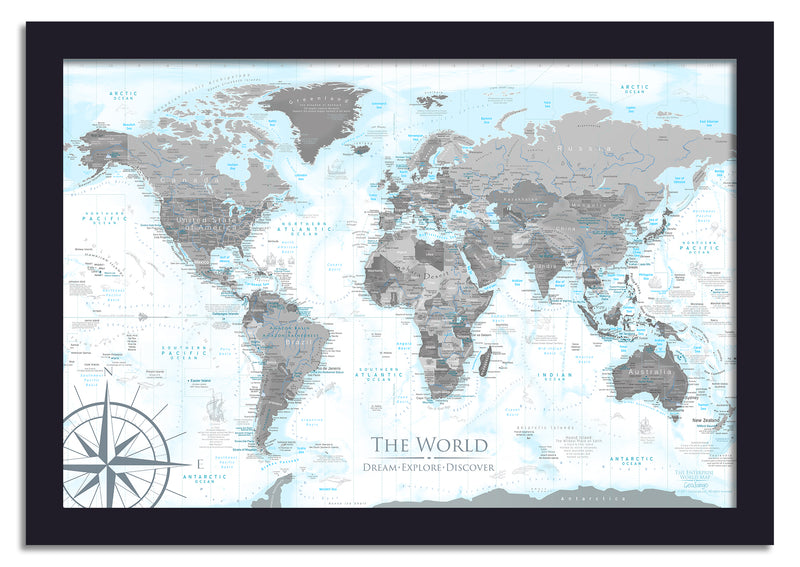 endeavor push pin world map
