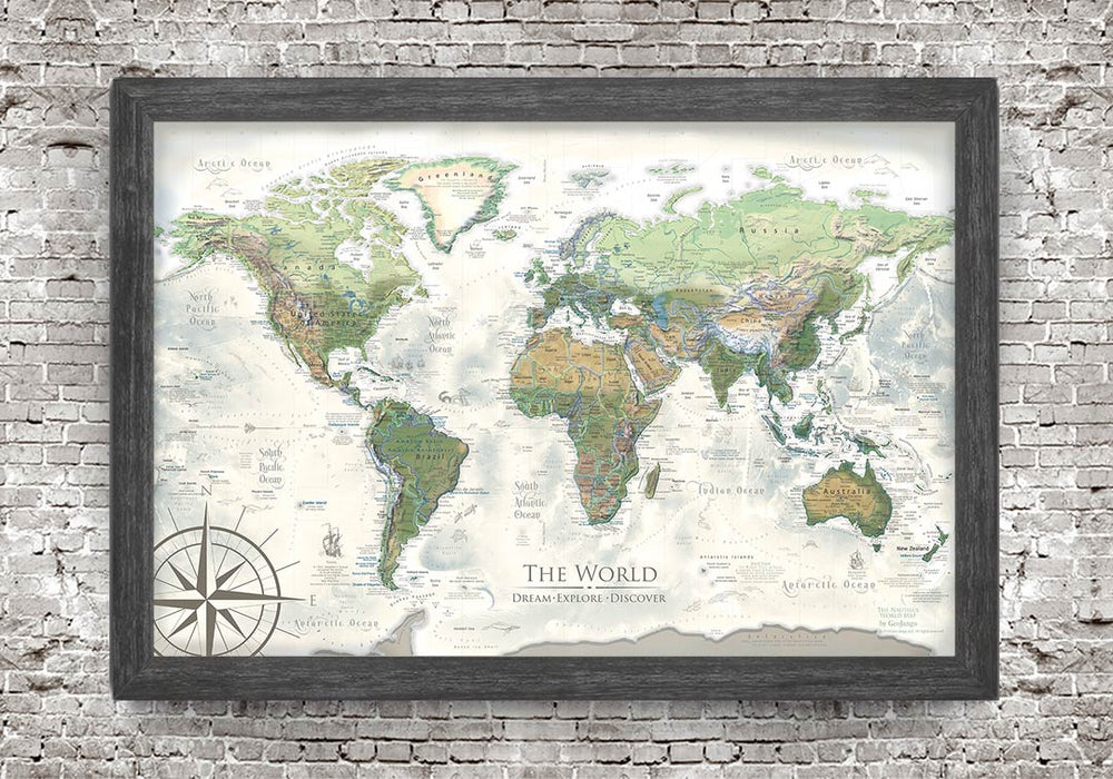 Push Pin Map of the World