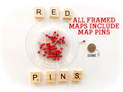 red map pins for baseball map