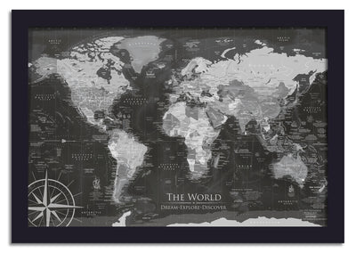 uss enterprise push pin world map