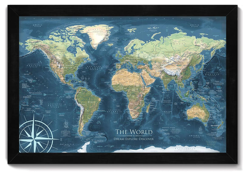 voyager 1 push pin world map