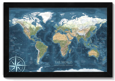 voyager 2 push pin world map