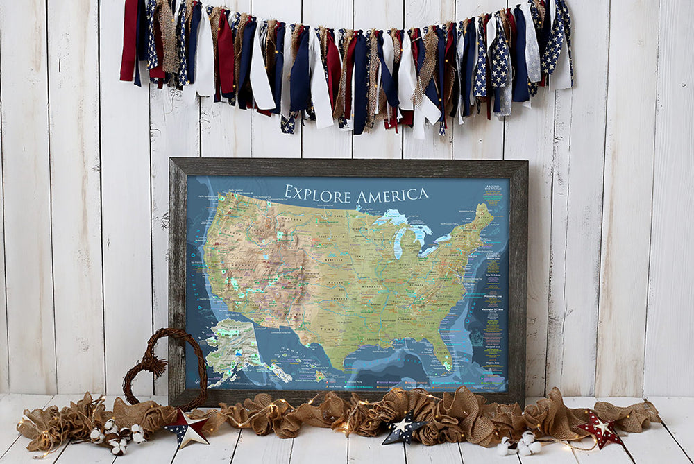 framed us travel map