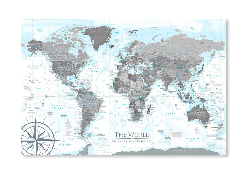 World Map Rolled Poster