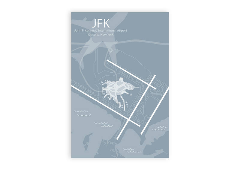 JFK - John F. Kennedy Airport Map