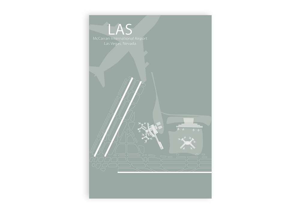 LAS - McCarran Airport Map