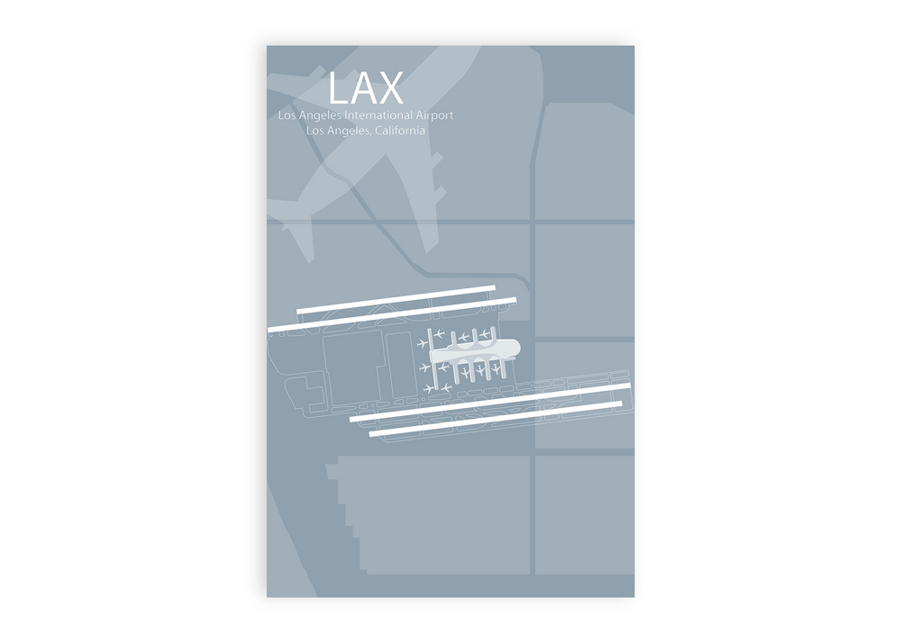 lax airport map