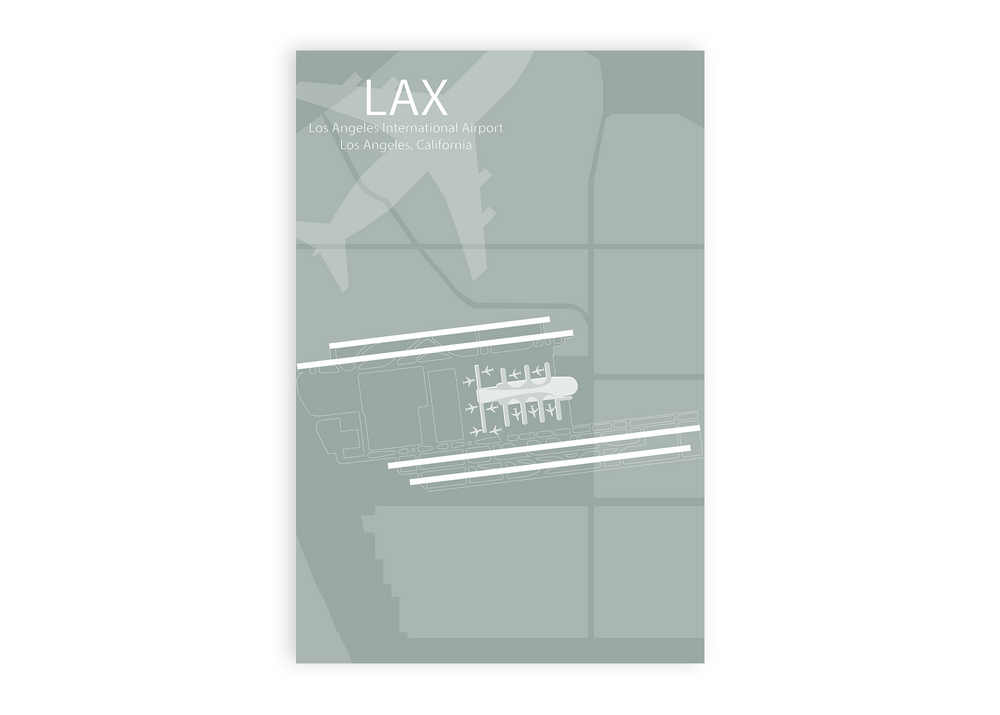 map lax airport