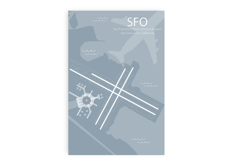 SFO - San Francisco Airport Map