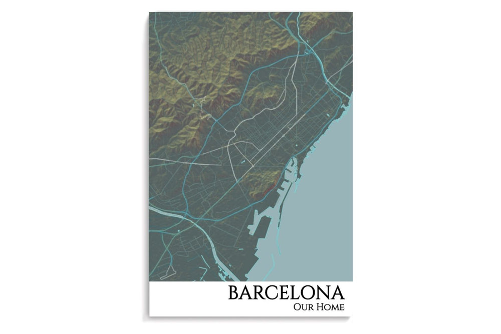 Barcelona City Map Poster