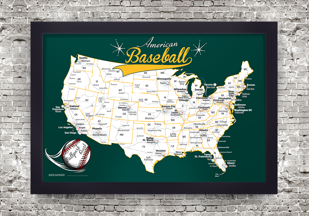 Oakland A's Map