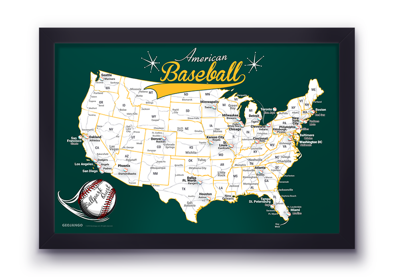 Oakland Athletics Map
