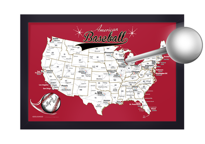 baseball travel map