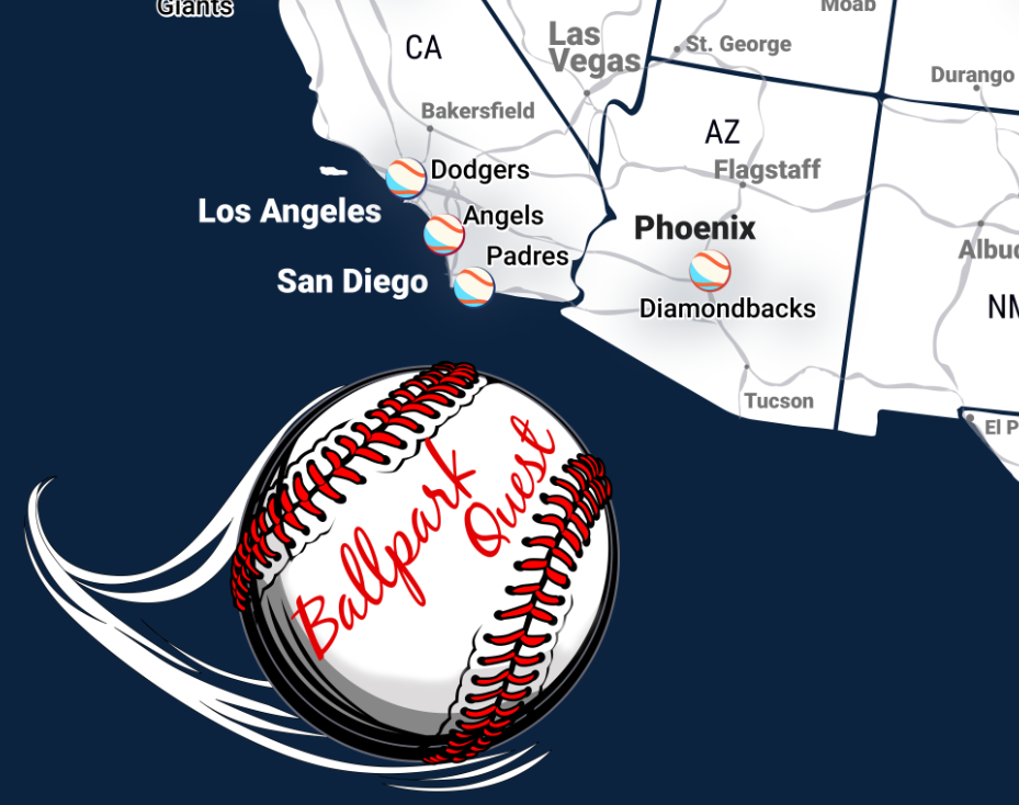 Map of baseball stadiums