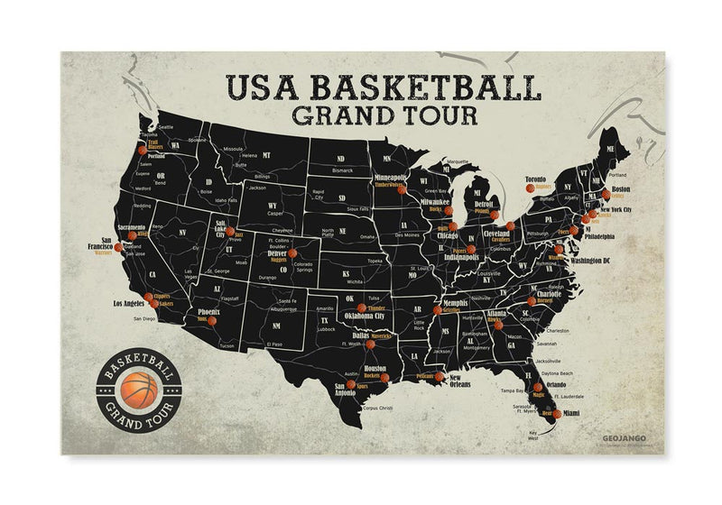 Basketball Stadium Map Poster
