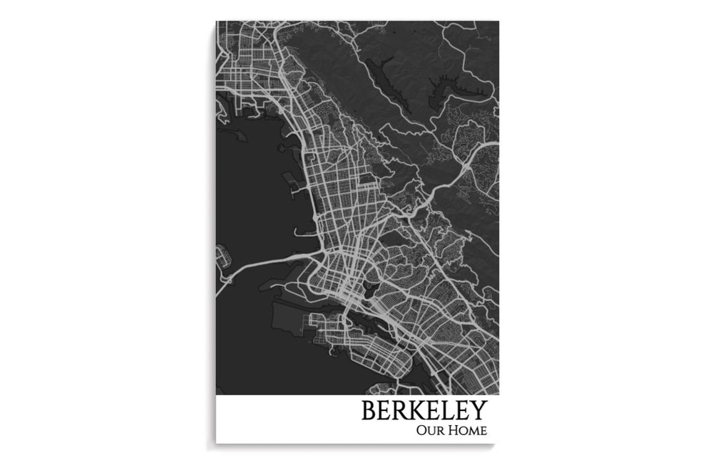 berkeley city map poster
