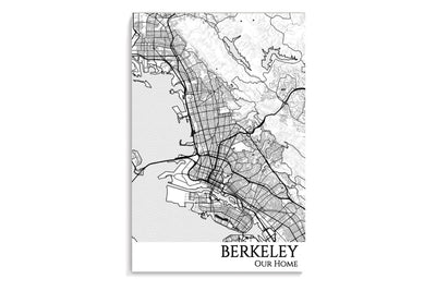 berkeley custom map poster