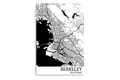 berkeley city map art print