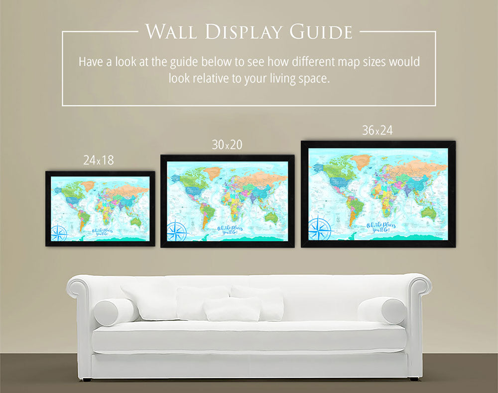custom wall maps