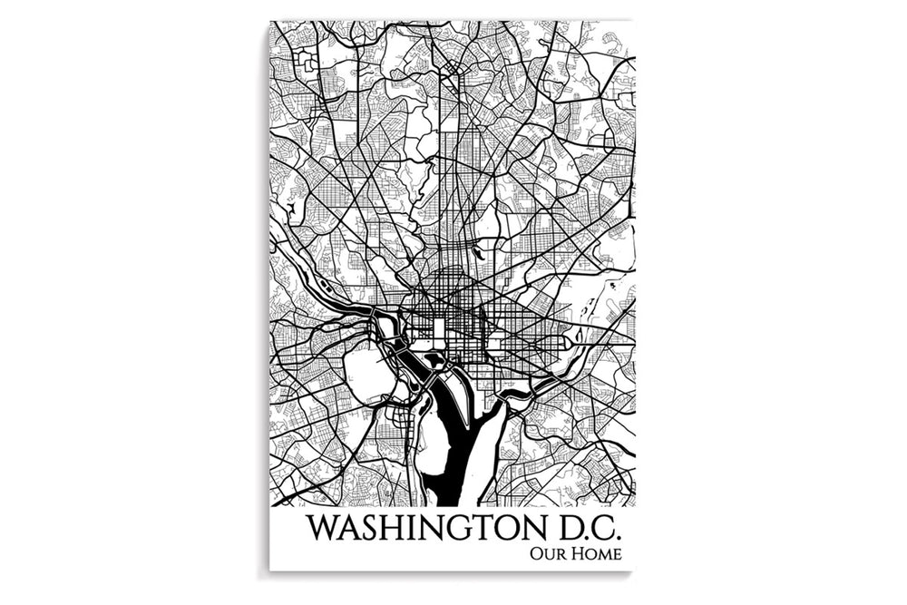 dc city map art print