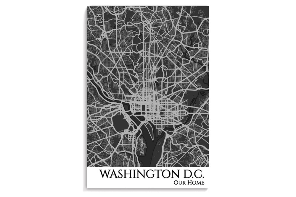 dc city map poster
