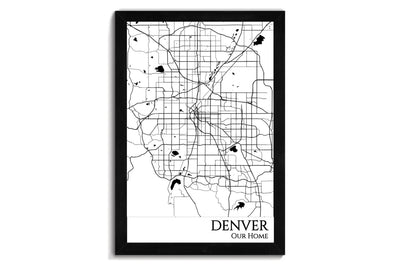 Denver Push Pin City Map